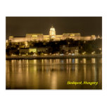 castillo del buda en postal de Budapest, Hungría