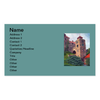Castillo del cantante tarjetas de visita