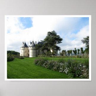 Castillo del Chaumont-sur-Loire, Francia Póster