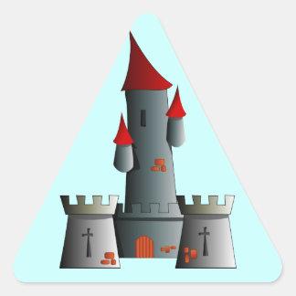 Castillo del cuento de hadas pegatinas de triangulo