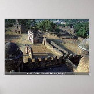 Castillo del emperador Fasiladas en Gondar, Etiopí Posters