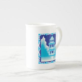 Castillo del hielo taza de porcelana