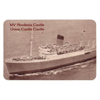 Castillo del milivoltio Rhodesia Imán Foto Rectangular