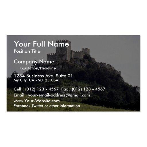 Castillo del Moorish, Sesimbra, Portugal Europa Tarjetas De Visita