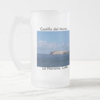 Castillo del Morro La Habana Cuba 16 Oz Frosted Glass Beer Mug