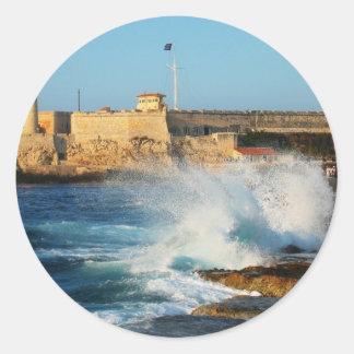 Castillo_del_morro Round Stickers