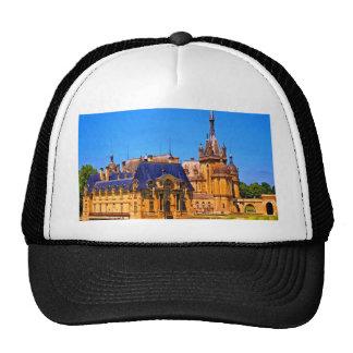 Castillo del palacio de chantilly Francia de la hi Gorros Bordados
