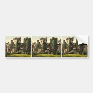 Castillo del raglán, I., Inglaterra Photochrom rar Pegatina Para Auto