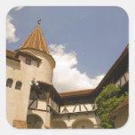 Castillo del siglo XIII del salvado (el castillo Pegatina Cuadradas Personalizada
