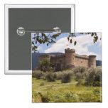 Castillo del siglo XV del duque Of Alburquerque Pin Cuadrado