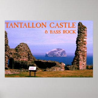castillo del tantallon y roca del bajo póster