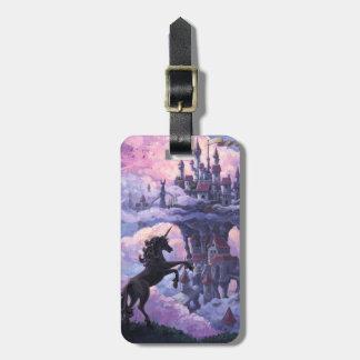 Castillo del unicornio etiquetas de maletas
