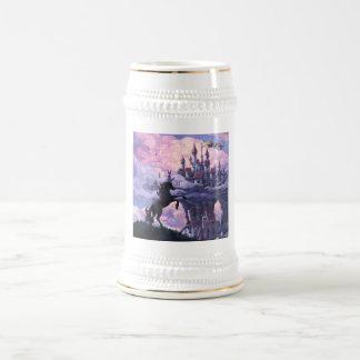 Castillo del unicornio jarra de cerveza