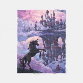 Castillo del unicornio manta de forro polar