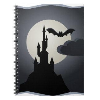 Castillo del vampiro libros de apuntes con espiral