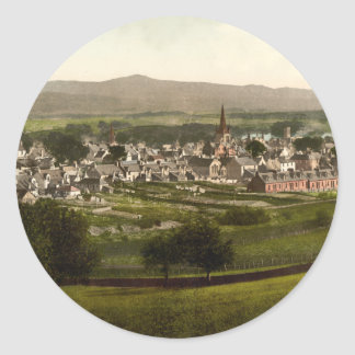 Castillo Douglas, Dumfries y Galloway, Escocia Etiqueta Redonda
