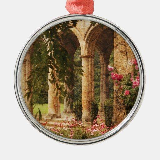 Castillo - el jardín secreto adorno redondo plateado