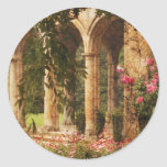 Castillo - el jardín secreto pegatina redonda