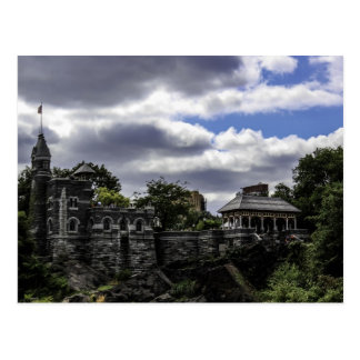 Castillo en Central Park Nueva York del belvedere Tarjetas Postales