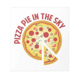 Castillo en el aire de la pizza libretas para notas