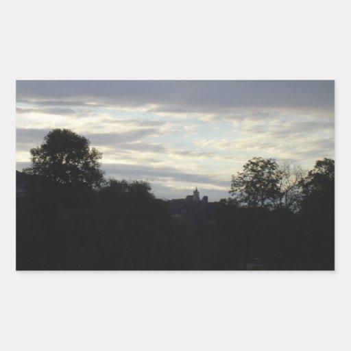 castillo en el amanecer rectangular altavoces