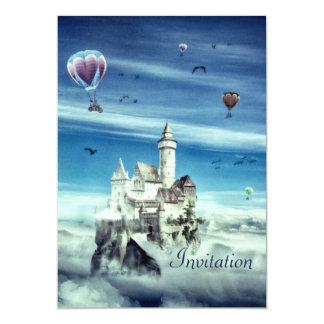 Castillo en el cielo - invitación del cumpleaños