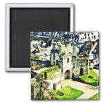 Castillo en Francia cerca de París Imanes Para Frigoríficos