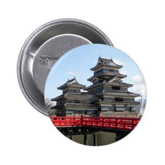 Castillo en Japón Pin Redondo De 2 Pulgadas