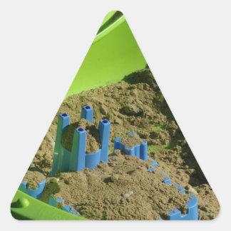 castillo en la arena pegatina triangulo