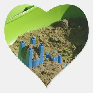 castillo en la arena colcomanias de corazon