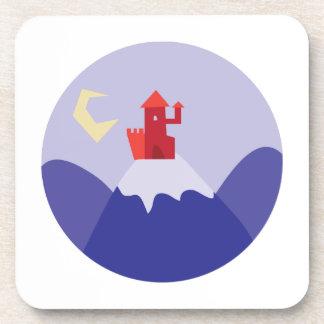 Castillo en la colina posavaso
