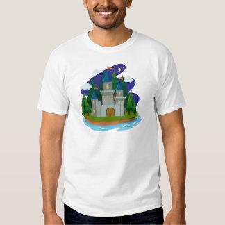 Castillo en la isla playera