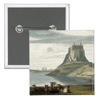 Castillo en la isla santa, Northumberland, 'de un  Pin Cuadrado