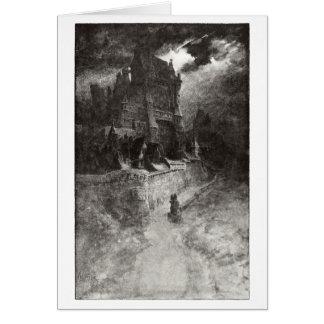 Castillo en la tormenta tarjeta de felicitación