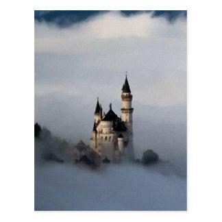 Castillo en las nubes tarjeta postal