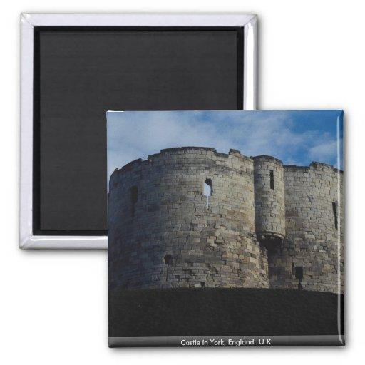 Castillo en York, Inglaterra, Reino Unido Imán