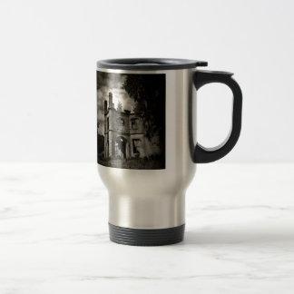 Castillo escocés espeluznante taza de café