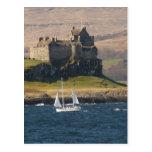 Castillo Escocia de Duart Tarjeta Postal