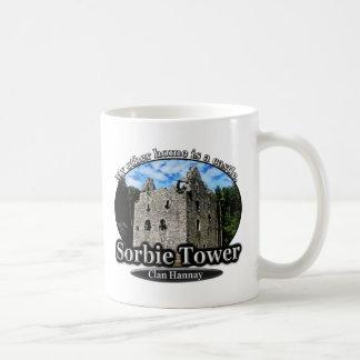 Castillo Escocia de la torre de Hannay Sorbie del Taza Clásica