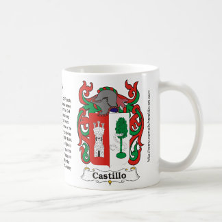 Castillo Family Coat of Arms Mug