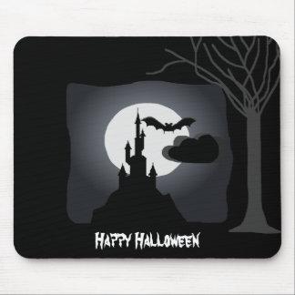 Castillo fantasmagórico Mousepad de Halloween Tapete De Ratón