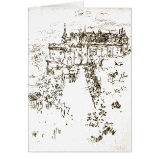 Castillo francés Amboise 1890 Tarjeta De Felicitación