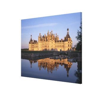 Castillo francés Chambord, el valle del Loira, Fra Impresión De Lienzo
