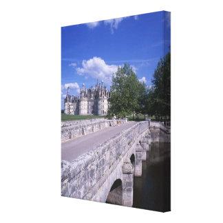 Castillo francés Chambord, el valle del Loira, Fra Lona Estirada Galerias