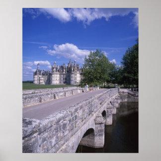 Castillo francés Chambord, el valle del Loira, Fra Poster