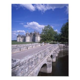 Castillo francés Chambord, el valle del Loira, Fra Impresión Fotográfica
