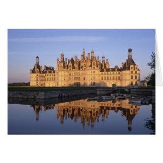 Castillo francés Chambord, el valle del Loira, Fra Felicitación