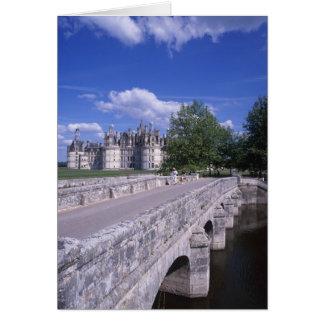 Castillo francés Chambord, el valle del Loira, Fra Tarjetón