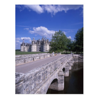 Castillo francés Chambord, el valle del Loira, Fra Tarjeta Postal