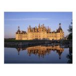 Castillo francés Chambord, el valle del Loira, Fra Tarjetas Postales